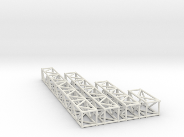 "12""sq Box Truss 1:48 3d printed"