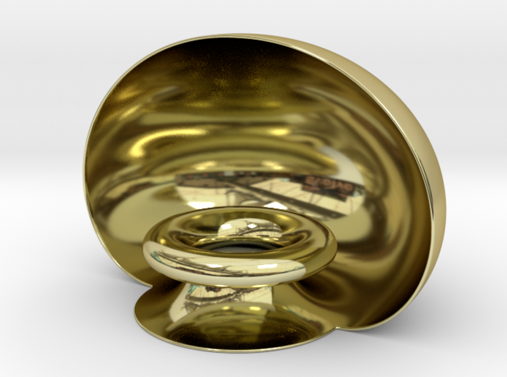 Golden Pedestal 3d printed Beautiful pedestal for displaying small keepsakes or just for ornament