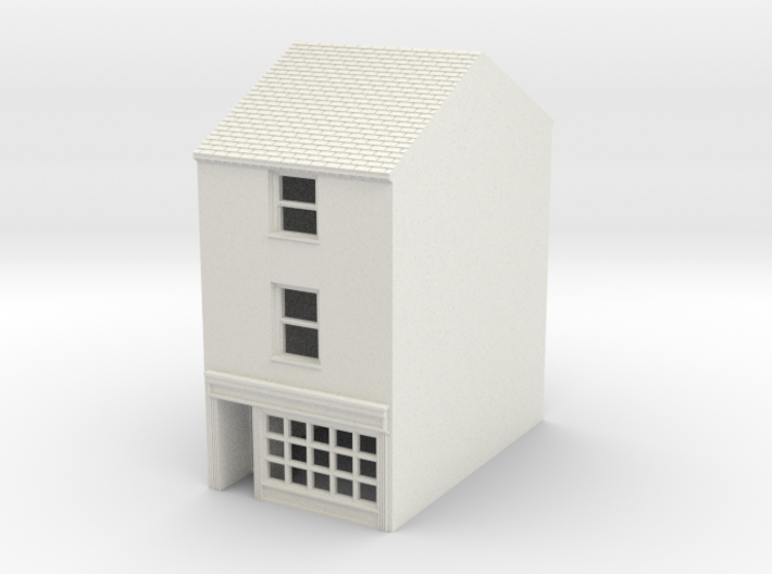 TFS-75 N Scale Topsham Fore Street building 1:148 3d printed