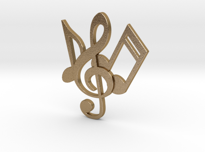 Music Necklace 3d printed