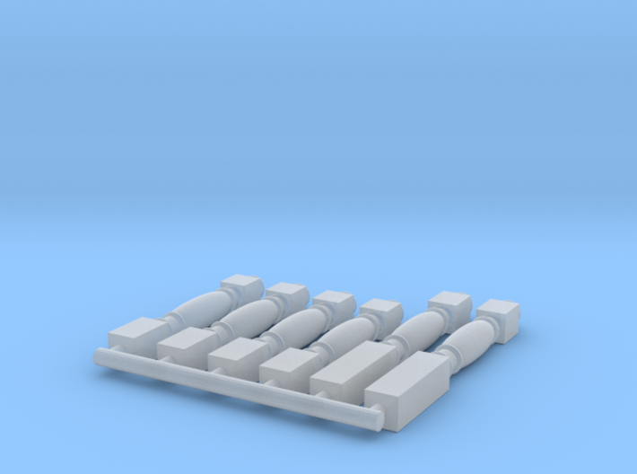 1:78 HMS Victory Ballusters for main companionway  3d printed