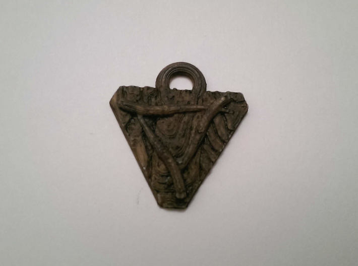 Skaven Shield keychain 3d printed Printed and painted at home