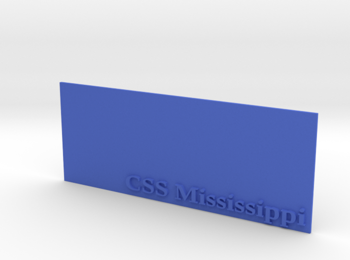 Base for 1/600 CSS Mississippi 3d printed