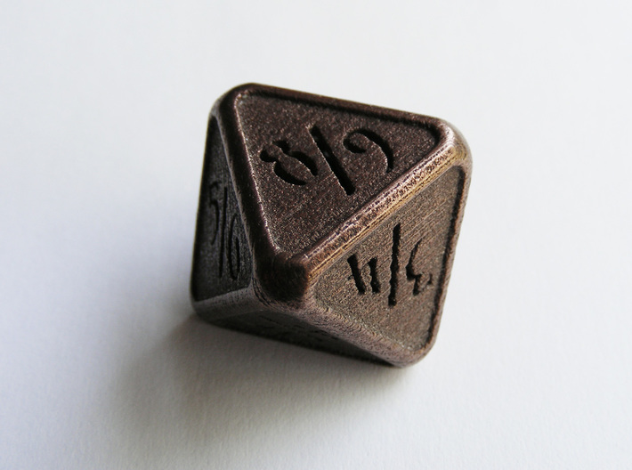 'Simple' D8 Tarmogoyf P/T balanced die 3d printed