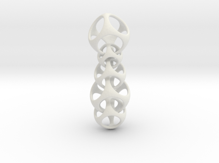 Cascade - Falling Cubes Necklace 3d printed