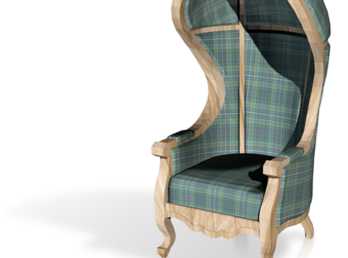 1:48 Quarter Scale Highland Plaid Carrosse Chair 3d printed