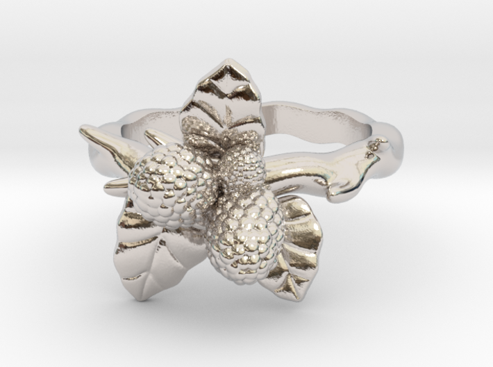 Wild Berry Ring - (Select a size) 3d printed