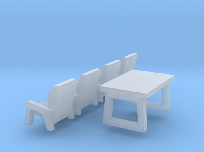 5 Campingmöbel (N 1:160) 3d printed