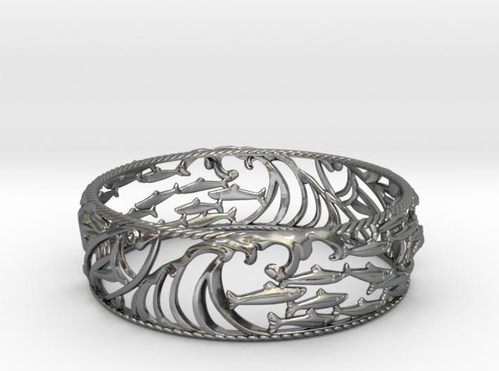 Sardine Wave Bracelet 3d printed