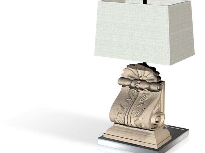 1:24 Half Inch Scale French Country Corbel Lamp 3d printed