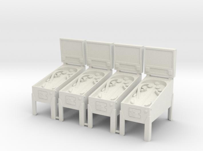 4 X Miniature Pinball Machines 3d printed