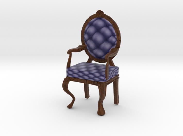 1:12 One Inch Scale NavyDark Oak Louis XVI Chair 3d printed