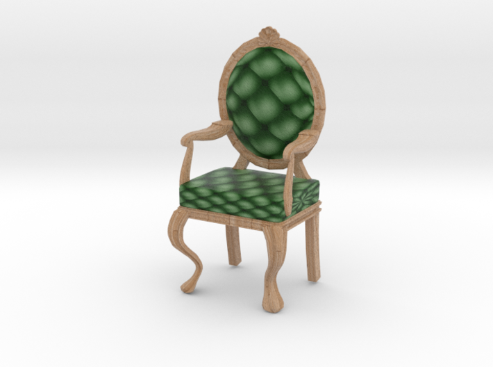 1:12 One Inch Scale PinePale Oak Louis XVI Chair 3d printed