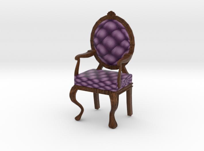 1:24 Half Inch Scale VioletDark Oak Louis XVI Chai 3d printed
