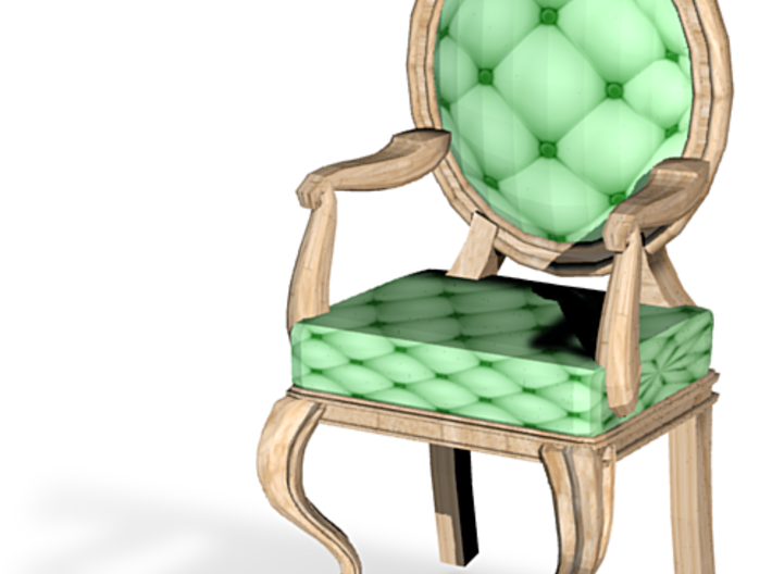 1:48 Quarter Scale MintPale Oak Louis XVI Chair 3d printed