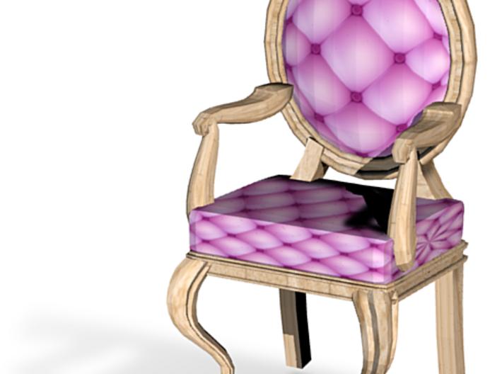 1:48 Quarter Scale PinkPale Oak Louis XVI Chair 3d printed