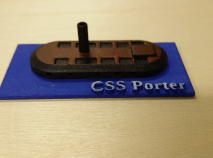 1/600 Porter's Ironclad 3d printed