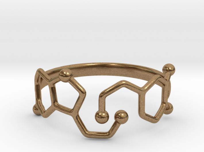 Dopamine Serotonin Molecule Ring - Size 11 3d printed