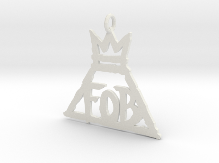 FOB 1 Inch necklace pendant 3d printed