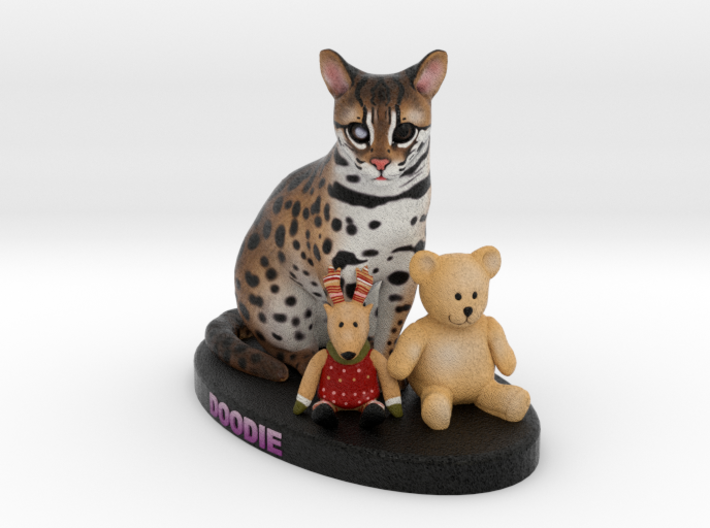 Custom Cat Figurine - Doodie 3d printed