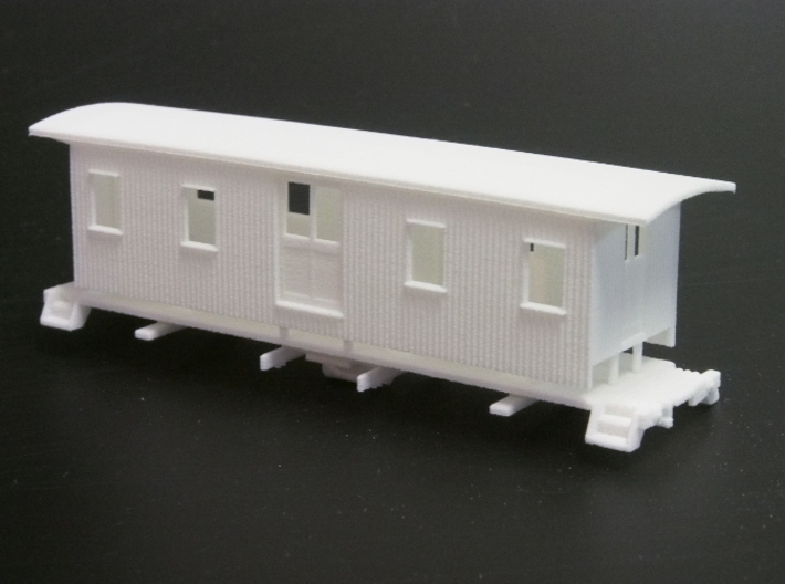 HOn3 30ft Baggage Car A 3d printed