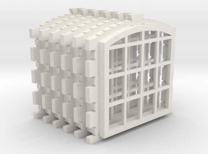 Engine Shed 6 Window Set Master 3d printed