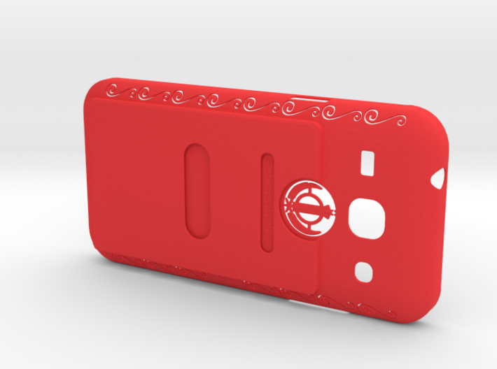Samsung Core SM-G350 Back Cover + CCard Pouch1 3d printed