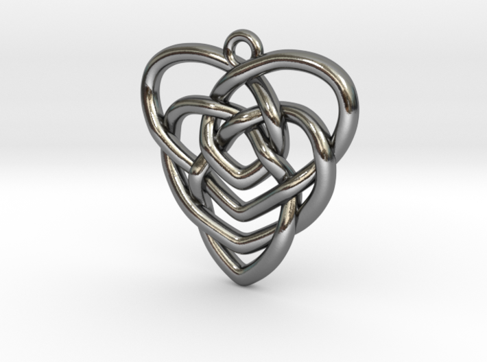 Mother's Knot Pendant 3d printed