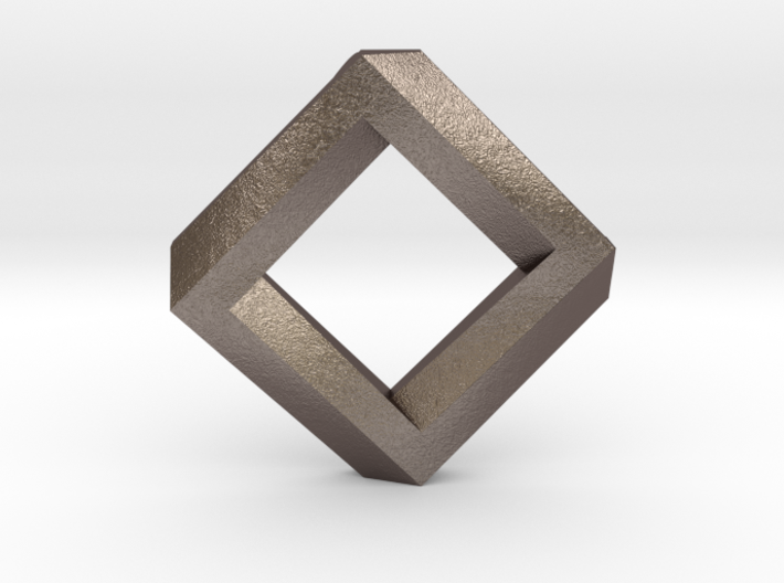 rhombus impossible 3d printed