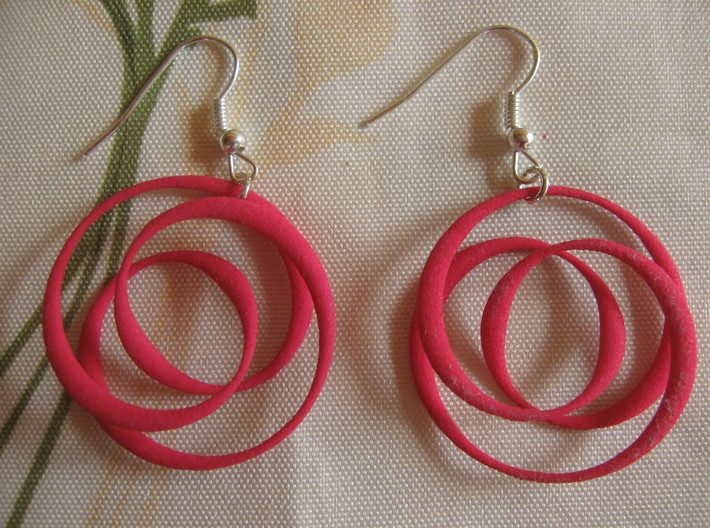 Coil 2 3 1 Earrings 3d printed