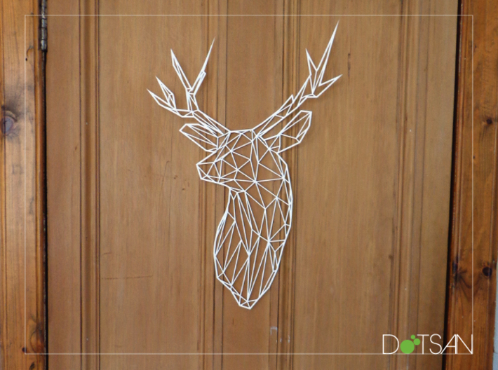 XL Flat Stag Trophy Head Wall Mounted 3d printed