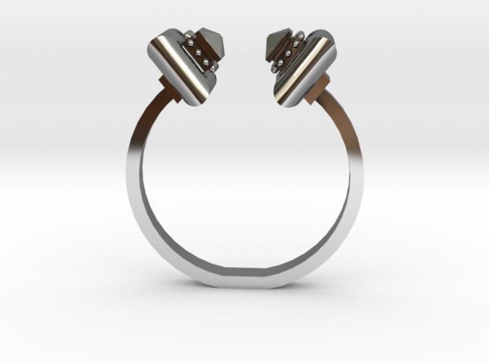 Cushion Ring - Sz. 7 3d printed