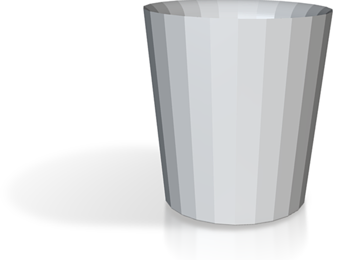 No Handle Coffee Cup - Faceted 3d printed