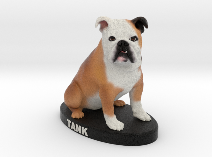 Custom Dog Figurine - Tank 3d printed