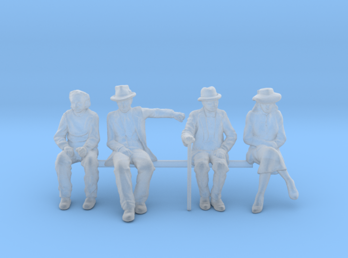 1:64 scale 4 figure pack seated Noir 3d printed