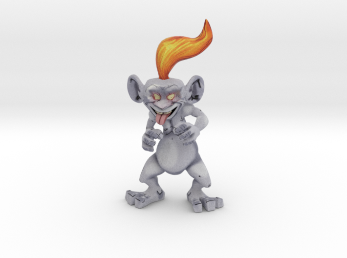 Orange troll 3d printed