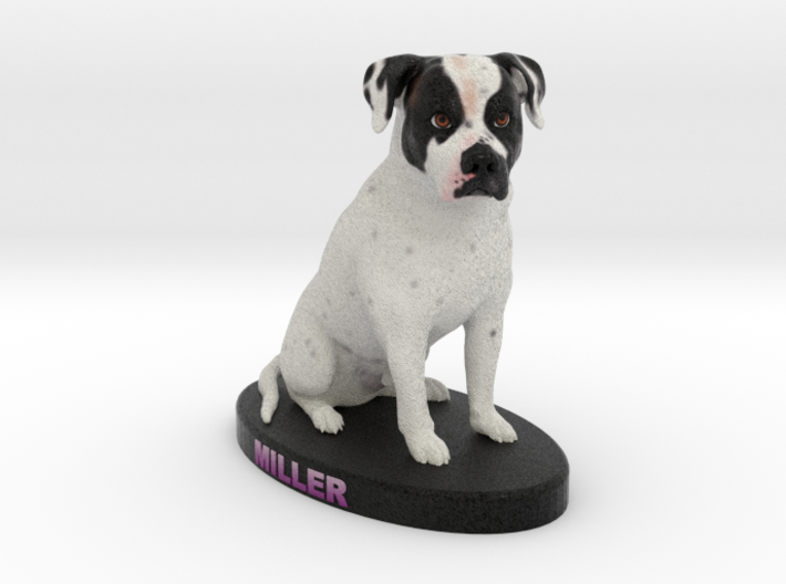 Custom Dog FIgurine - Miller 3d printed