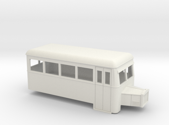 009 short single-ended railbus with bonnet 3d printed