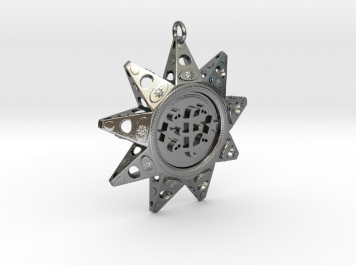 Baha'i Ringstone Symbol Pendant 3d printed