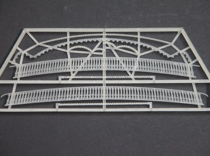 1:84 HMS Victory Stern Gallery Decoration 3d printed Photo of 1:78 version