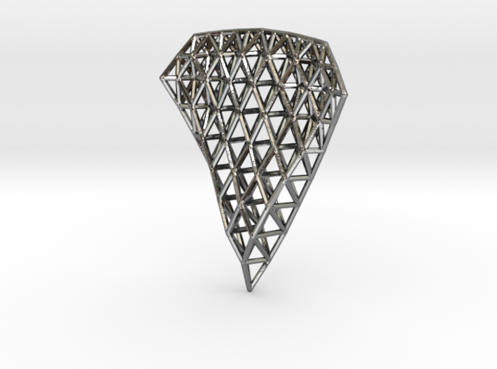 Space Frame Pendent 3d printed