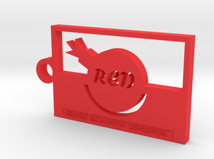 Team Fortress 2 Red Team Keychain 3d printed