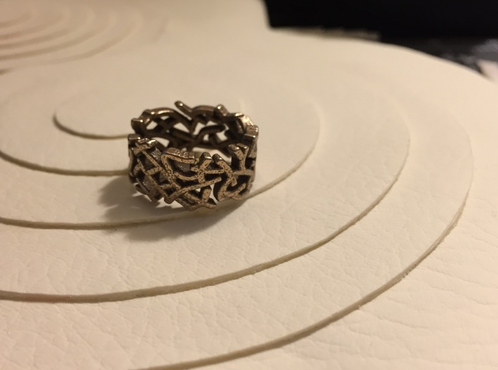 Single Coral Ring (6 1/2) 3d printed
