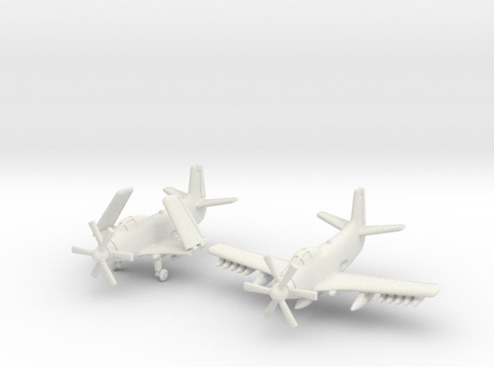Douglas A2D Skyshark (2 airplanes set) 6mm 1/285 3d printed