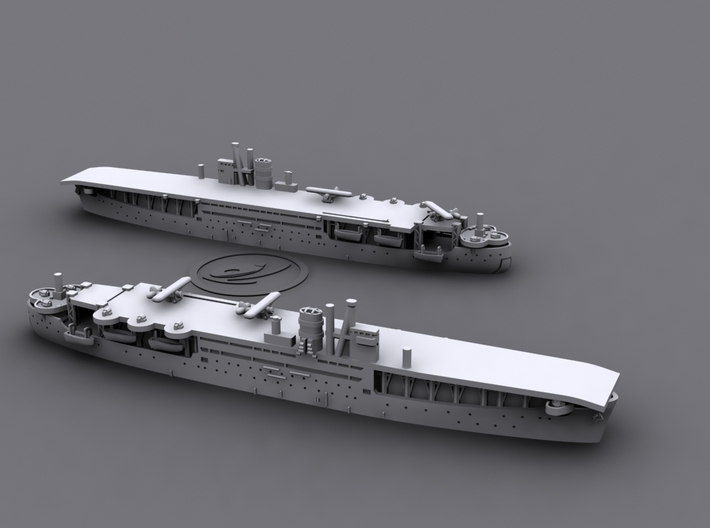 1/1800 IJN LSD Akitsu Maru [1942] 3d printed *aircrafts not included