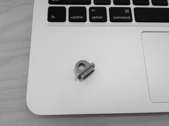 KeyBit - MagSafe Adapter Key Ring (beta) 3d printed