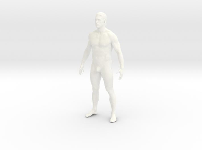 Naked man in 10cm Passed 3d printed