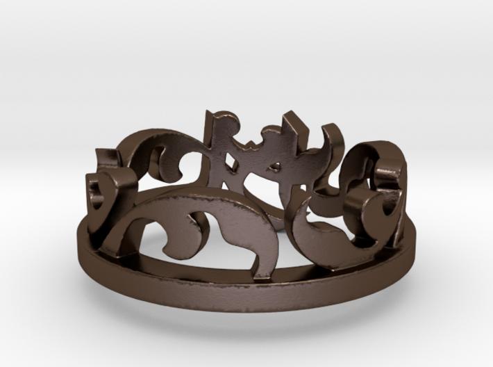 Sara Ring -steel Ring Size 8 3d printed