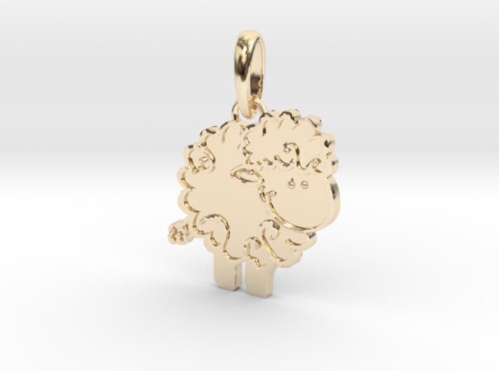 Little Lamb pendant 3d printed