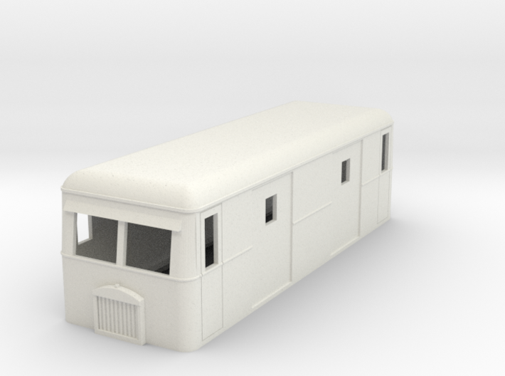 009 Short bogie parcels railbus 3d printed